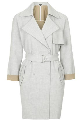 Light Grey Belted Trench Coat. Shop this look on www.showmethemuhnie.com