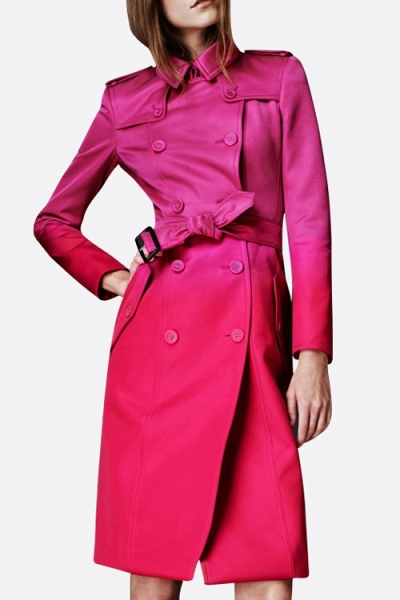 Belted Ombre Pink Trench Coat. Shop this look on www.showmethemuhnie.com.